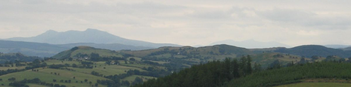 The skyline above the Vale of Clwyd